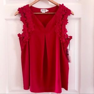 ✨NWT✨ Red sleeveless blouse